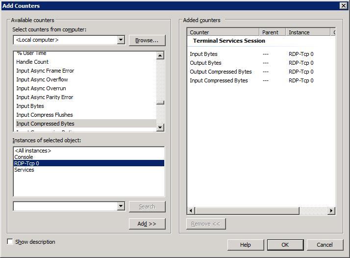 Screenshot from Windows Server 2008