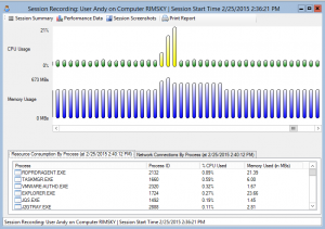 Session Explorer Dialog Screenshot from Remote Desktop Reporter