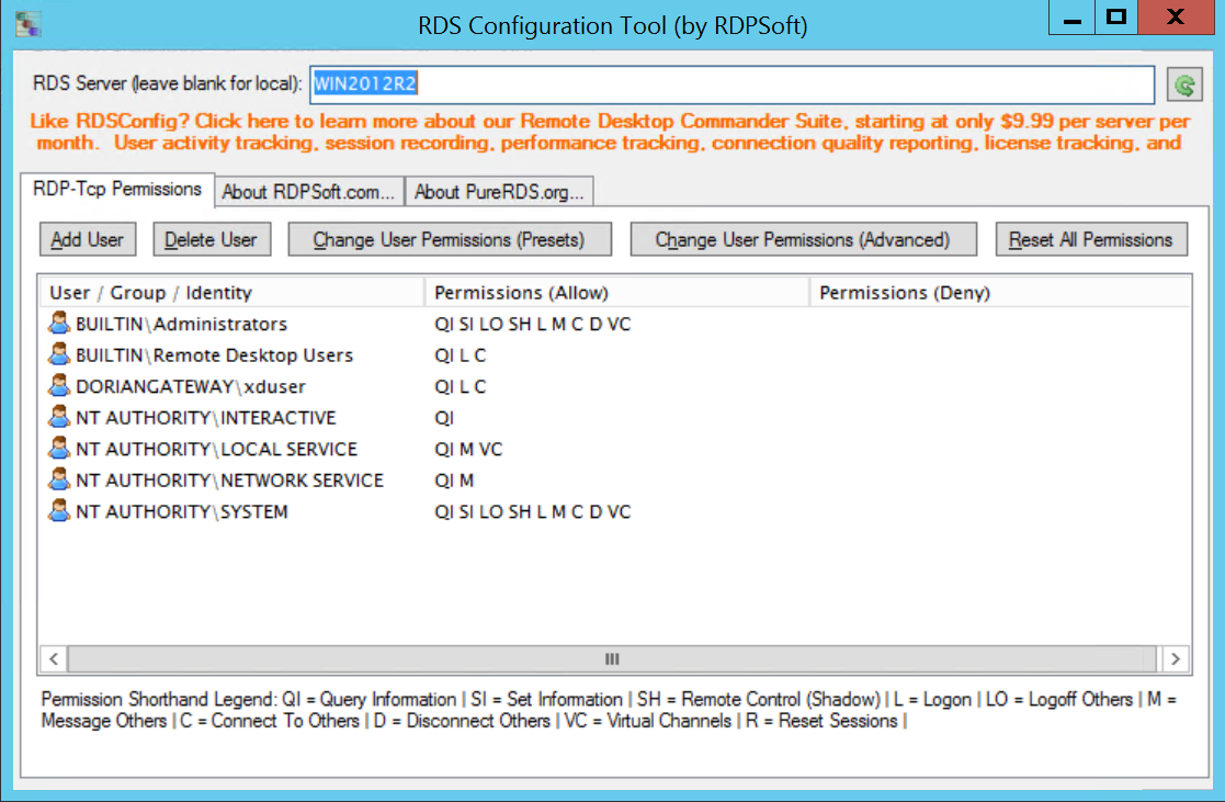 Adjusting RDP Permissions Granularly