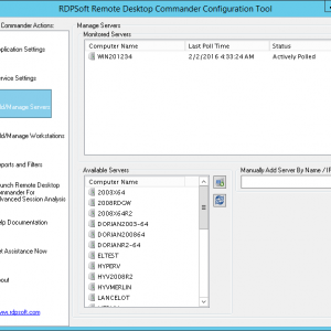 Remote Desktop Commander Configuration Tool