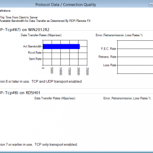 Monitoring RDP Protocol Levels and RDP Latency and Connection Quality