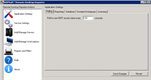 Configuring Polling Interval for Remote Desktop Reporter