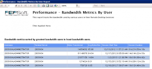 Tracking Terminal Server Session Bandwidth