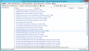 Viewing Process Memory Consumption By User on Server 2012
