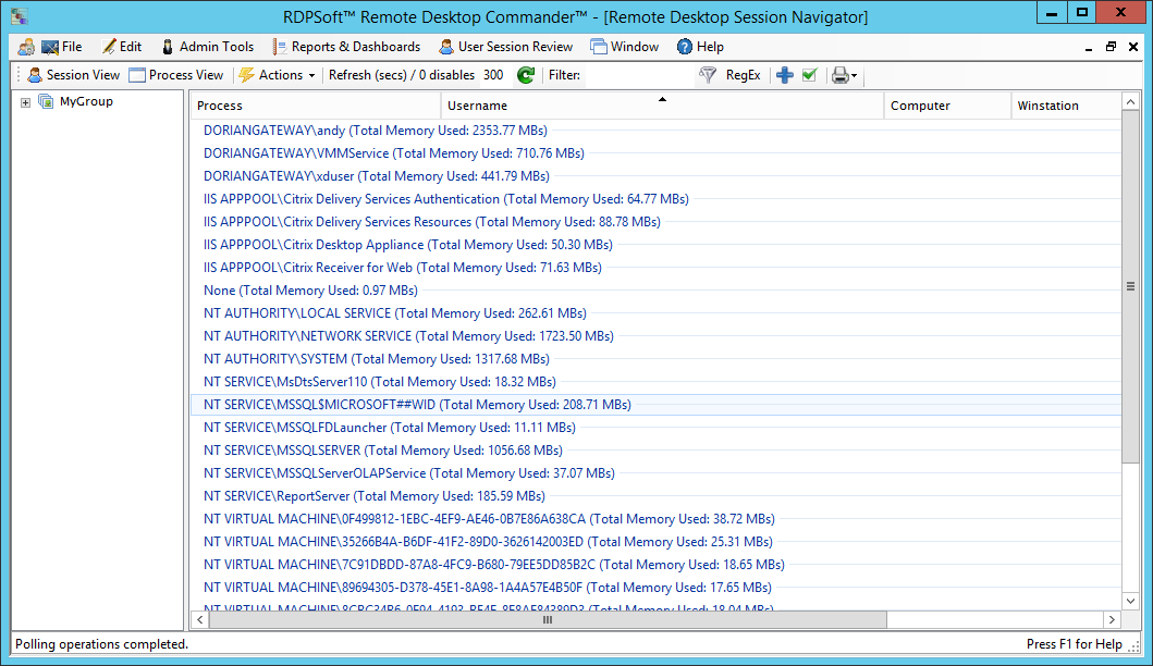 Remote Desktop Commander Lite | Free TSAdmin Replacement