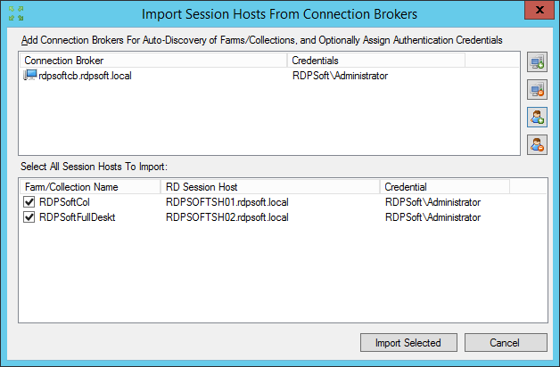 Remote Desktop Commander 3.9 has improved Connection Broker support.