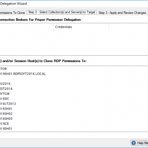 Select Connection Broker(s) and Choose Session Hosts That Will Receive Delegated Permissions.