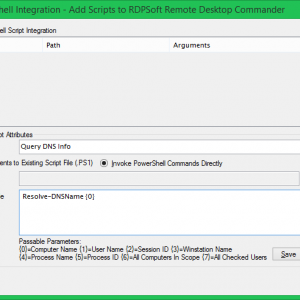 Defining Your Own Parameterized PowerShell Scripts to Run Against Session Hosts, Users, Processes, and More.